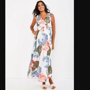 Motherhood Maternity Floral Chiffon Maxi Dress